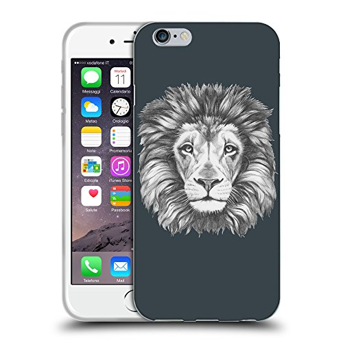 GoGoMobile Coque de Protection TPU Silicone Case pour // Q05160606 Dessin lion Arsenic // Apple iPhone 7