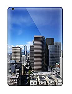 High Quality Seattle Town Scratchers Panoramic View Blue Sky Nature Other Case For Ipad Air / Perfect Case