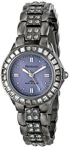 Armitron Women's 75/3689GMDG Grey Swarovski Crystal Accented Gunmetal Bracelet ()