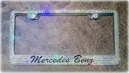 Mercedes License Plate Frame made with Swarovski Crystals - Mercedes Car Jewelry -  RVMdesigns