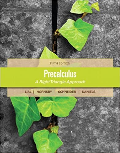 Precalculus margaret l lial john hornsby david i schneider precalculus 5th edition fandeluxe Image collections