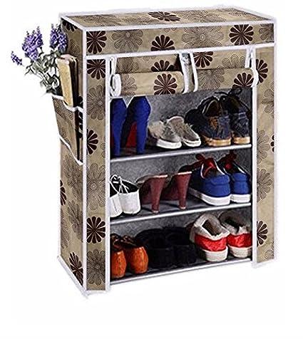 EMBROSS Premium high Bond Plastic Shoe Rack  Flower  Stand Collapsible Shoe Racks