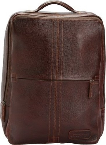 Leather Laptop Backpack, Fits in 15.5 laptop, College Bag, Travel Backpackt, 16.5 (width)x3.9 (depth)x13.75 (height) inches (CHOCOLATE) by Tortoise