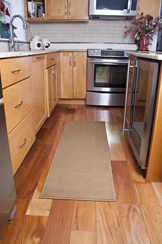 Ritz Accent Door Rug Runner with Non-Slip Latex Backing, 20-Inch by 60-Inch Kitchen & Bathroom Runner Rug, ()
