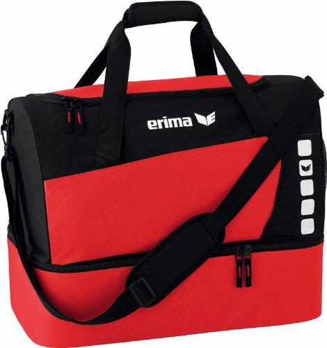 erima Sporttasche mit Bodenfach - Bolsa de deporte, color granito, talla M rojo / negro