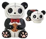 skull cookie jar - Pandie Panda Bear Furry Bones Cookie Treat Jar