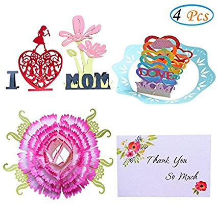 Amazon happy birthday mom cards 3d pop up greeting cards i happy birthday mom cards3d pop up greeting cards i love mom handmade m4hsunfo
