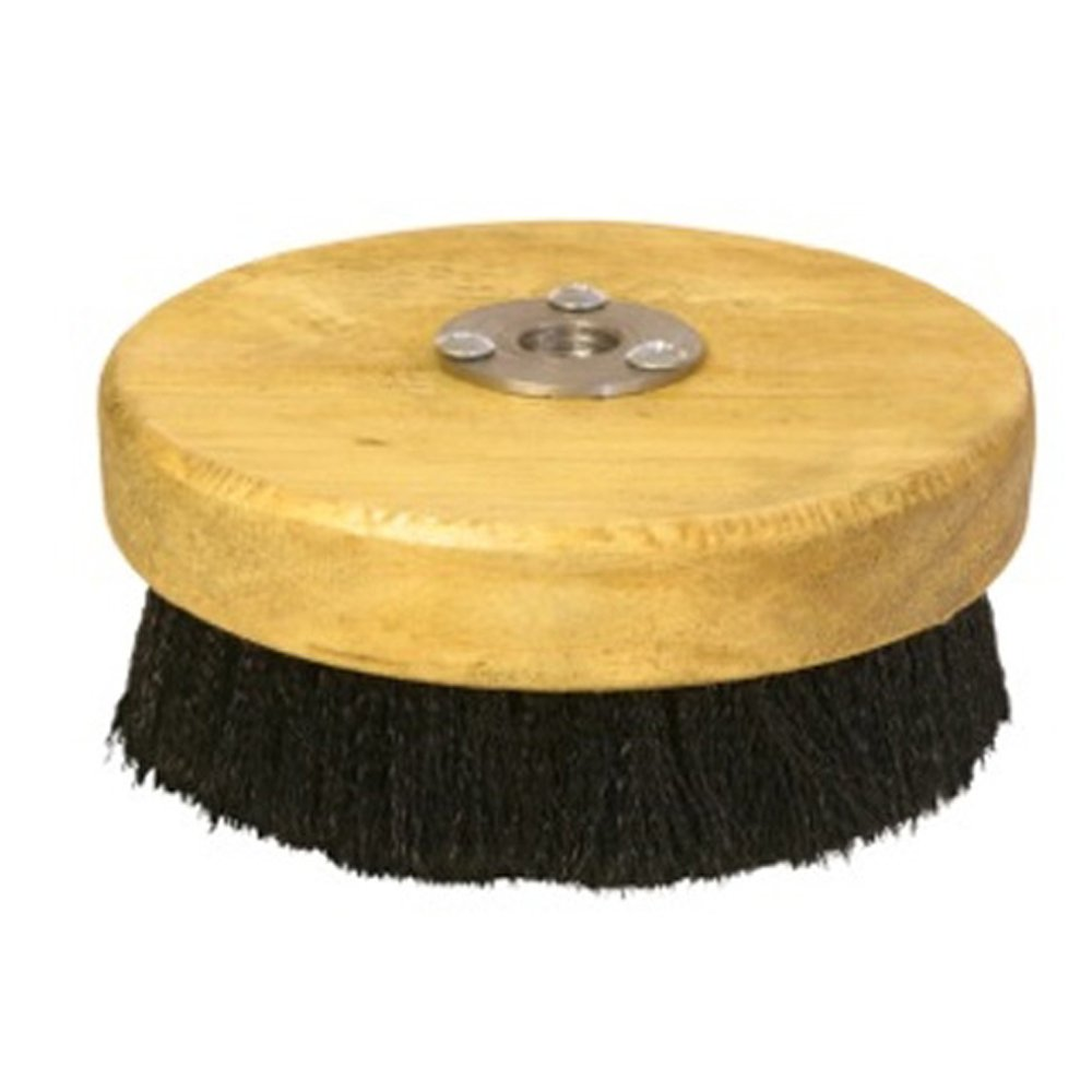 Discount Car Care Products Carpet and Upholstery Shampoo 5'' Wood Block Brush for Rotary Buffers - Polishers