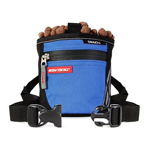 EzyDog SnakPak Wearable Dog Treat Bag Training Pouch with Belt (Blue)