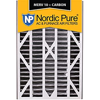 Nordic Pure 16x25x5 MERV 12 Trion Bear 259112-105 Replacement Pleated AC Furnace Air Filter 2 Pack 4-7//8 Actual Depth