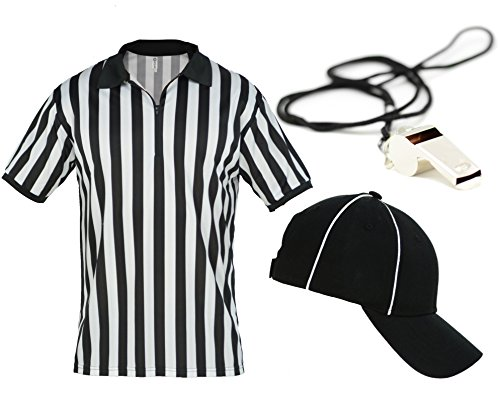 Mato & Hash Mens Referee Shirts/Umpire Jersey with Collar for Officiating + Costumes + More! - RefSet CA2050ZIP 4XL CA2099 L/XL RW1000 for $<!--$29.99-->