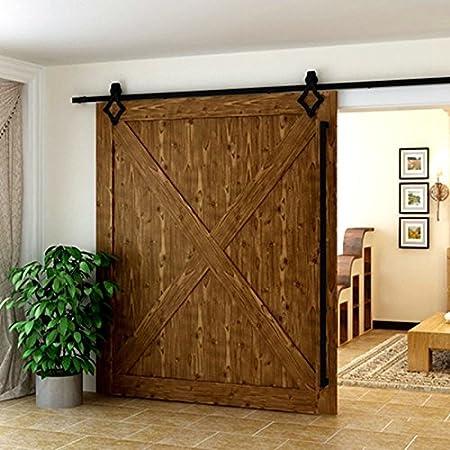 Herraje para Puerta de Granero Corredera de madera Puerta Deslizante Divisores Puertas Interiores (200cm, Modelo B): Amazon.es: Hogar