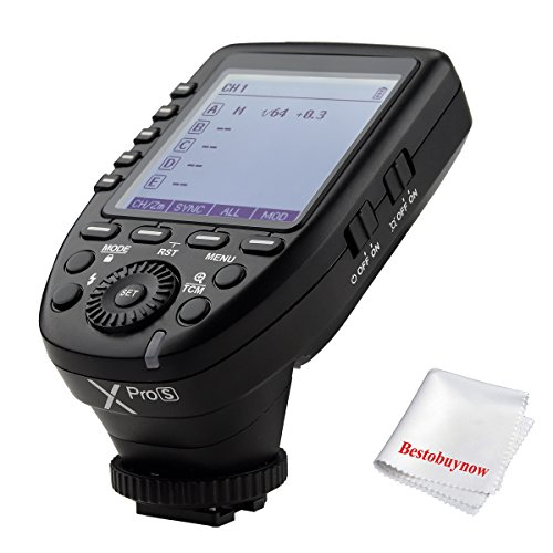 Godox Xpro-S TTL Wireless Flash Trigger for Sony DSLR Camera 2.4G Wireless X System Remote Trigger 1/8000s HSS TTL-Convert-Manual Function Large Screen Slanted Design by Godox