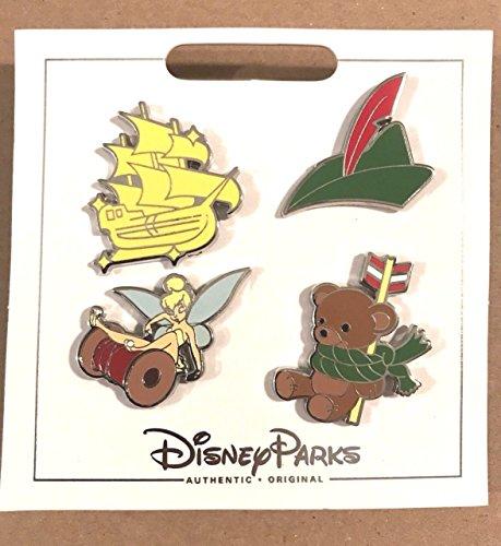 Disney Parks Peter Pan/Tinkerbell Icons 4 Pin Set