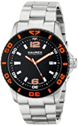 Haurex Italy Men's 7A500UON Factor Stainless Steel Rotating Bezel Luminous Date Watch