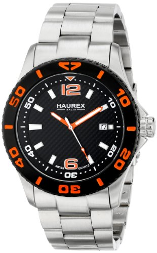 Haurex Italy Men's 7A500UON Factor Stainless Steel Rotating Bezel Luminous Date (Date Rotating Bezel)