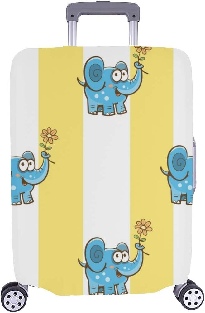 (Solo Cubrir) Divertidos caricaturas de Elefantes Maleta de Viaje Maleta Protectora de Viaje Cubierta Protectora para Protectora para 28.5 X 20.5 Inch
