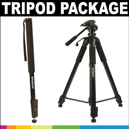 Polaroid Premium Package: Polaroid 72'' Photo / Video ProPod + Deluxe Tripod Carrying Case + Additional Quick Release Plate + Polaroid 72'' Photo / Video Pro Monopod For The Canon Digital EOS Rebel T4i (650D), T3 (1100D), T3i (600D), T1i (500D), T2i (550D), by Polaroid