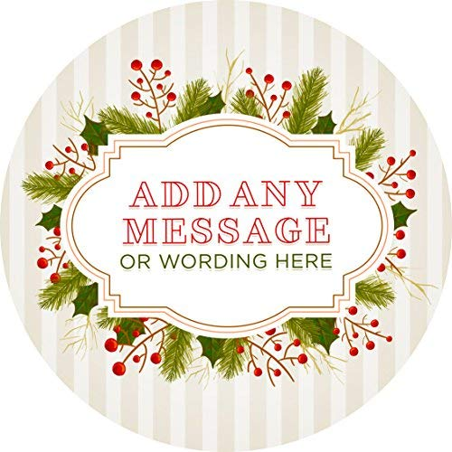 s Holly Leaves Personalized Sticker Lables Christmas Address Labels Envelop Seals Party Favor Tags Lable ()