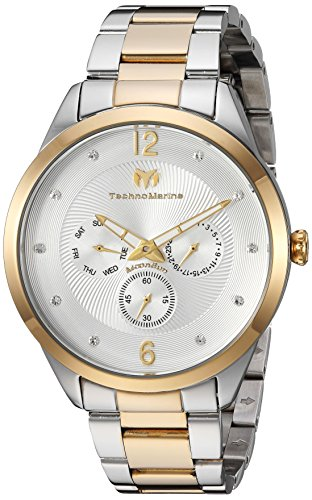Technomarine Men's 'Moonsun' Quartz Stainless Steel Casual Watch, Color:Two Tone (Model: TM-117040)