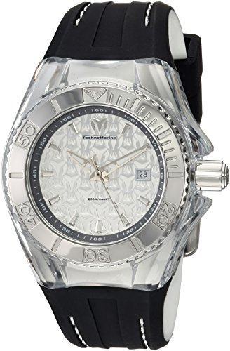 Technomarine Women's 'Cruise' Quartz Stainless Steel and Silicone Casual Watch, Color:Grey (Model: TM-116003)