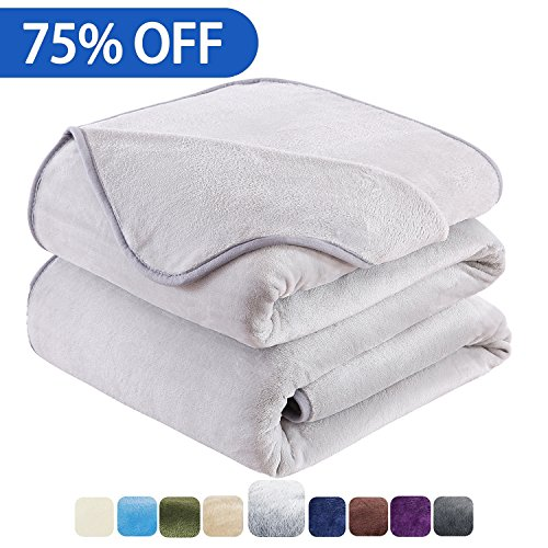 HOZY Soft Blanket King Size Fleece Warm Fuzzy Throw Blankets