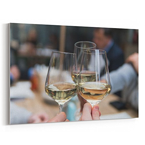 Westlake Art - Cheers Toast - 12x18 Canvas Print Wall Art - Canvas Stretched Gallery Wrap Modern Picture Photography Artwork - Ready to Hang 12x18 Inch (861D-8E207)