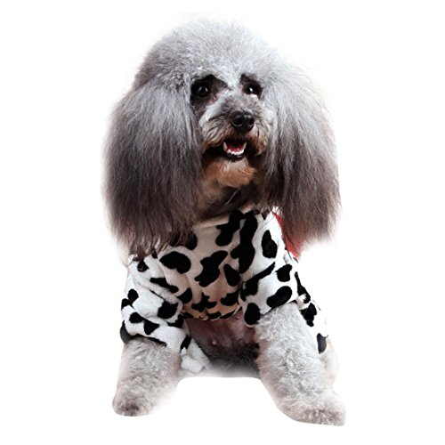 Cow Dog Xxl Costume (Outtop Pet Clothes, Small Dogs Cow Coat Shirt Apparel Costume Accessory for Dog Dachshun Chihuahuad (XXL,)