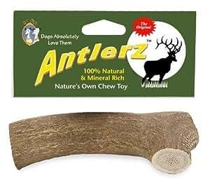"Set of 2, Antlerz Dog Chews, Large 4.5"" - 5"", Pet Treat Natural Shed in USA Deer Antler"