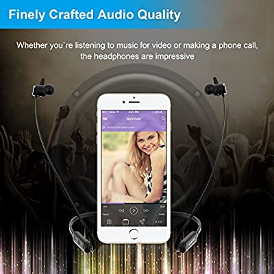 LOBKIN Wireless Bluetooth Headphones, Lightweight In-ear Headsets with Microphone IPX6 Sweatproof Magnetic Sport Earphones with Active Noise Cancelling Upgraded 8 Hours Play Time Music