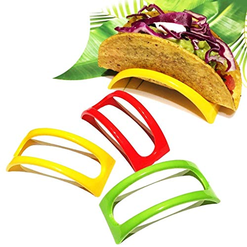 ♛Euone Taco Shell Holder ♛Clearance♛, 12PCS Colorful Plastic Taco Shell Holder Taco Stand Plate Protector Food Holder
