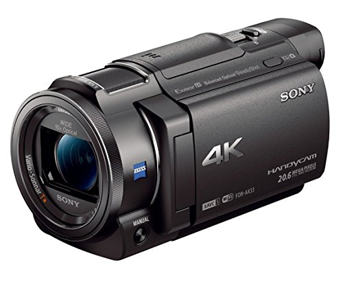 Sony 4K HD Video Recording FDRAX33 Handycam Camcorder (Sony Camcorder Hd 1080p)