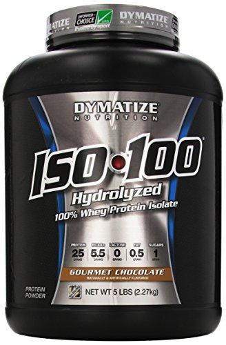 Nutrición de Dymatize ISO 100, polvo de proteína de suero de leche, Chocolate Gourmet, 5 libras