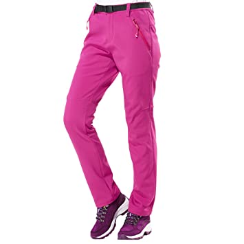 Lixada Pantalon Extérieur Chaud Polaire Coupe-Vent Imperméable à l eau  Pantalons de Neige ec30e5eba45