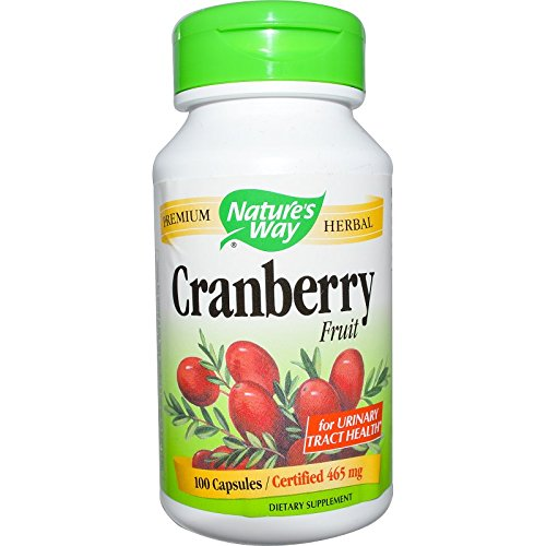 Nature's Way Cranberry Fruit Capsules, 465 mg 100 ea ( Pack of 4)
