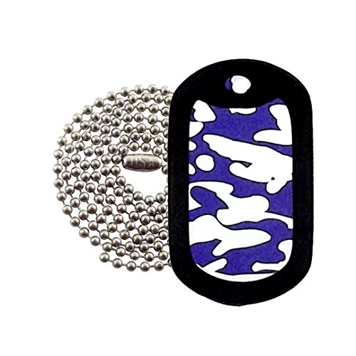Military Dog Tags - Colts Camo Dog Tag Necklace - Tag-Z ()