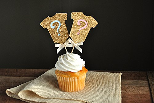 gender-reveal-party-decor-gold-onesie-question-mark-cupcake-toppers-12ct