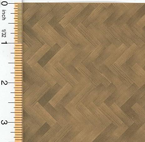 Amazon Dollhouse Herringbone Wood Floor Paper Toys Games