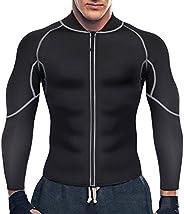 Gotoly Men Sweat Neoprene Weight Loss Sauna Suit Workout Shirt Body Shaper Fitness Jacket Gym Wear Top Clothes