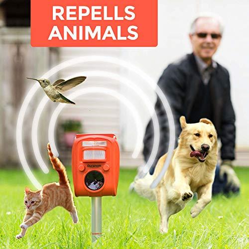 Duranom Ultrasonic Pest Animal Repeller Outdoor Solar