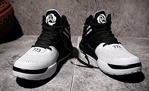 Jiye Mens Lichtgewicht Basketbalschoenen Sporten Van Vrouwen Running Sneakers Zwart Wit