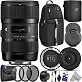 Sigma 18-35mm F1.8 Art DC HSM Lens for NIKON DSLR Cameras w/Sigma USB Dock & Advanced Photo and Travel Bundle