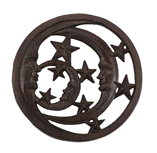 Decorative Cast Iron Trivet with Unique Pattern for Kitchen or Dining Table (7.7
