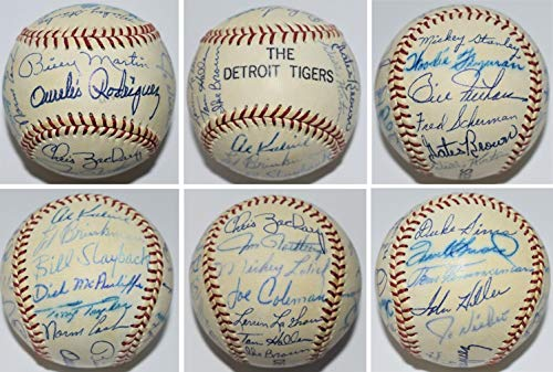 1972 Detroit Tigers Team Signed Baseball with Norm Cash, Al Kaline, 24 more - Guaranteed to pass BAS - Beckett Authentication