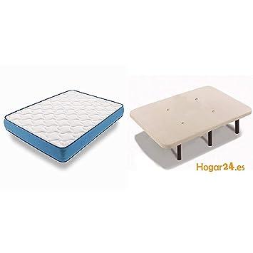 HOGAR24 ES - Conjunto de descanso 120 x 180 cm - Colchón Viscorelax Transpirable + Base