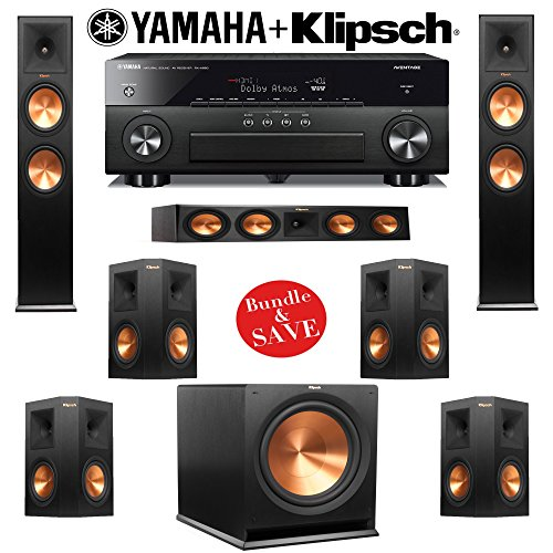 Klipsch reference premiere rp 280f 7 1 home theater system for Yamaha 7 2 home theatre system