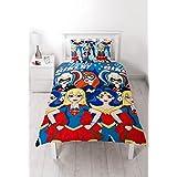 DC Super Hero Girls UK Single/US Twin Duvet Cover and Pillowcase Set