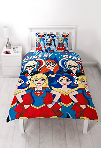 DC Super Hero Girls UK Single/US Twin Duvet Cover and Pillow