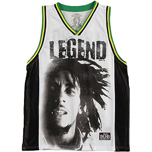Bob Marley Legend Portrait 56 Basketball Jersey (Large)
