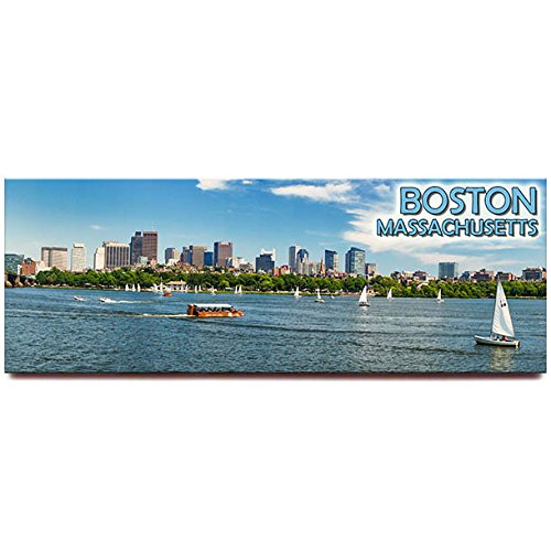 Boston panoramic fridge magnet Massachusetts travel ()
